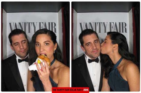 Celebrity Photo Booths - Vanity Fair's Oscar Party Featured a Playful Photo Booth
