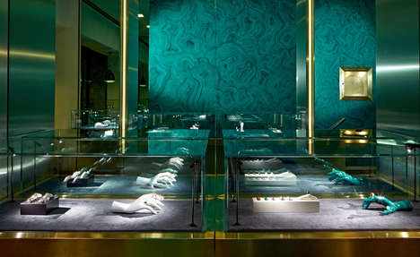 Surreal Ornamental Boutiques - The New Delfina Delettrez London Store Resembles a Jewelry Box