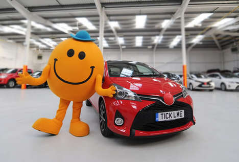 Comically Ticklish Cars - The Toyota Yaris is a Car with a Personality That Likes to Laugh