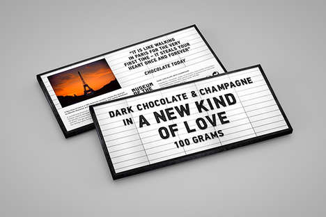 Cinema Signage Packaging - Moving Image Chocolate Bars Feature Titles of Eight Classic Movies