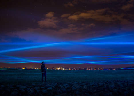 Northern Lights Installations - Waterlicht by Studio Roosegaarde Resembles a Stunning Virtual Flood