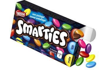 Moderation Candy Boxes - Smarties' New Candy Box Pacakging Encourages Smarter Eating