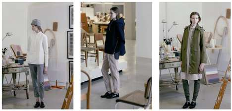 Modernist Nordic Lookbooks - The FW 2015 Norse Projects Womenswear Line is Minimalist Chic