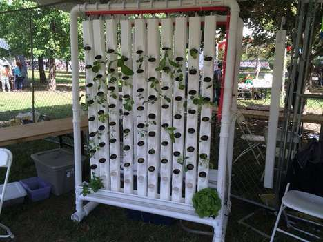 Standing Hydroponic Gardens - This Vertical Gardening System is Automated with Electronics