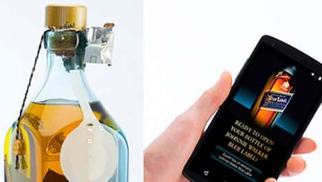 Smart Whiskey Bottles - The Johnnie Walker Blue Label Smart Whiskey Bottle Talks To Your Smartphone