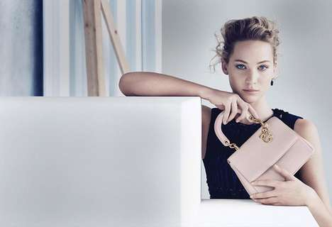 A-List Handbag Campaigns - This Jennifer Lawrence Dior Ad Embodies Demure Elegance
