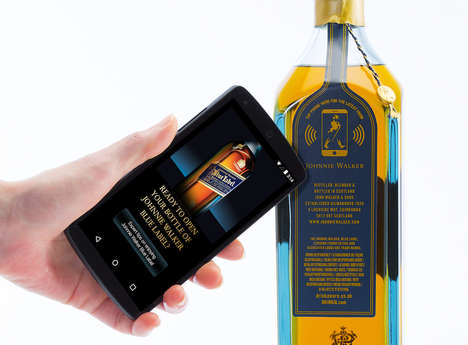 Cloud-Connected Liquor Bottles - Johnnie Walker Whisky Tech-Savvily Confirms Age Authenticity
