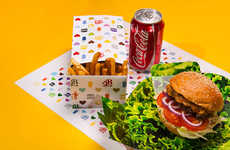 Pop Restaurant Packaging - This Burger Branding Project Explores the Consumable Quality of Logos
