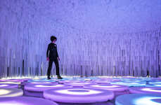 Luminous Fabric Installations - Wonderwall by LIKEarchitects is an Imaginative Interactive Exhibit