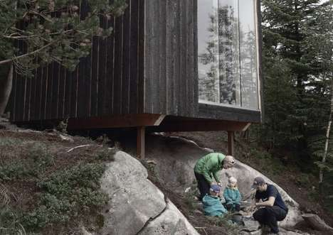 Off-Grid Mountain Cabins - The Tubakuba Mountain Hub Helps Young Families Take In Nature