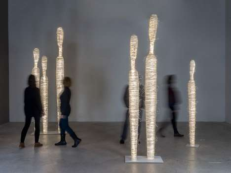 Kinetic Art Installations - Encontros by Arturo Alvarez is a Group of Sculptures About Vitality