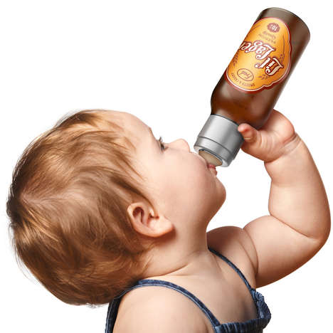 Baby Booze Bottles - The Chill Baby Lil' Lager Looks Like a Beer But is Just Another Baby Bottle