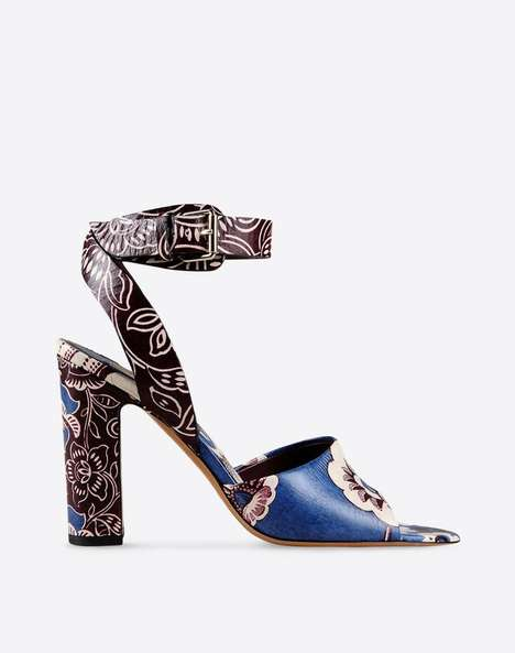 Couture Graffiti Heels - These Calfskin Valentino Sandals are Adorned With a Street Art Print