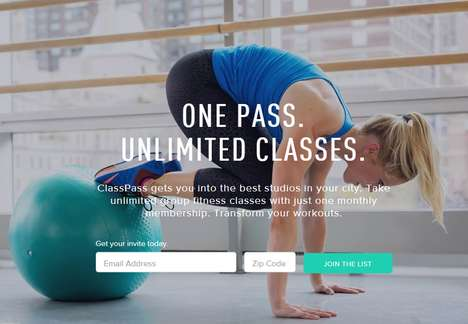Versatile Fitness Memberships - ClassPass Lets People Enjoy Unlimited Classes to Boutique Studios