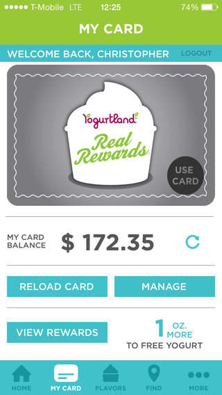 Mobile Froyo Rewards - The Yogurtland App and Real Rewards Program Honor Loyal Customers
