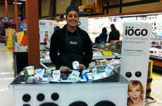 Portable Yogurt Displays - This iOGO Demo Table is a Perfect Way to Introduce New Flavors in Store
