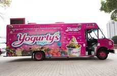 Yogurt Food Trucks - Yogurty's Froyo Brings Its Service to the Streets for Fun Interaction
