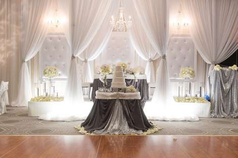 Dazzling Wintry Weddings - Luxury Wedding Decor Set the Stage for This Romantic Event
