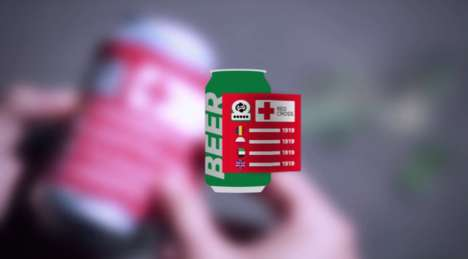 Assistive Beer Cans - The Red Cross' CANpaign Uses Beer Cans to Get at Its Target Audience