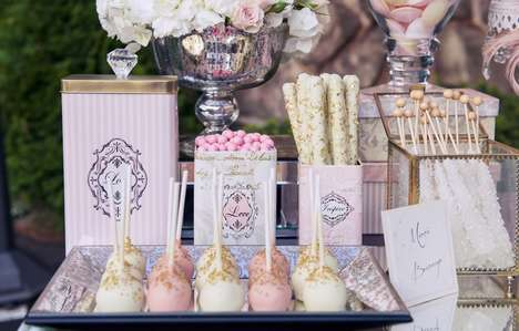 Parisian Candy Stations - This Wedding Candy Bar is Elegantly Styled and Incredibly Delicious