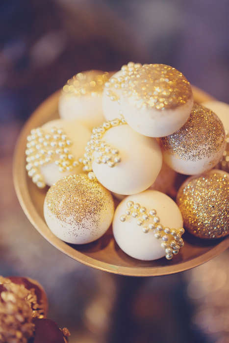 Luxury Cake Pops - Casual Desserts Can be Given an Opulent Twist Via Decoration Details