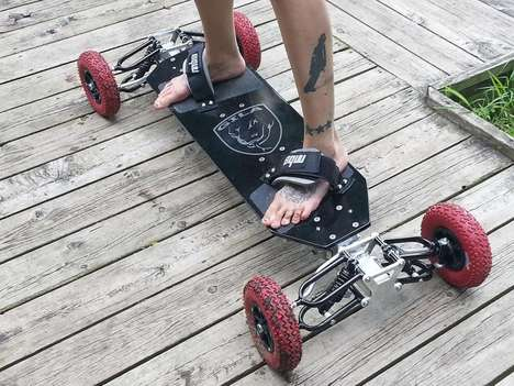 Off-Road Suspension Skateboards - The Gila Board Has Fully Adjustable Independent Suspension