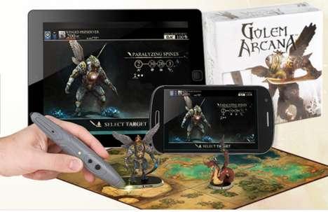 Digitally Enhanced Boardgames - Golem Arcana Embeds Traditional Rule Book into an App