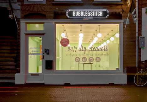 Mobile Laundry Startups - Bubble & Stitch is an App-Driven 24-Hour Laundering Service in Amsterdam