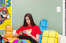 Giant Tetris Pillows - ThinkGeek Created the Ultimate Collection of Gamer-Worthy Pillows