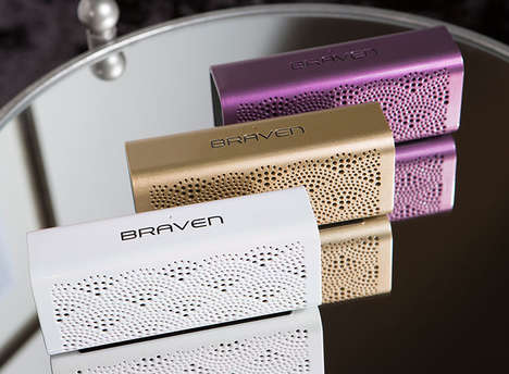 Luxe All-in-One Speakers - A Braven Portable Sound System Offers Style and Surprising Functionality