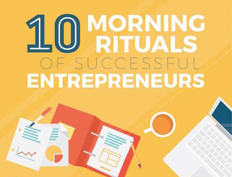 Routine-Revealing Graphs - This Chart Shows the Morning Rituals of 10 Successful Entrepreneurs