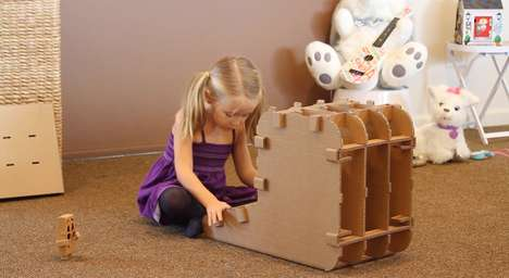 Cardboard Kids' Desks - Flatpacked Furnishings Teach Youngsters the Process and Logic of Assembly