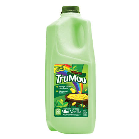 Festive Mint Milks - TruMoo's Mint Vanilla Green Milk is Available Nationwide for St. Patrick's Day