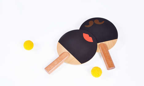 Animated Ping Pong Paddles - These Huzi Products Enhance the Standard Rackets with Expression