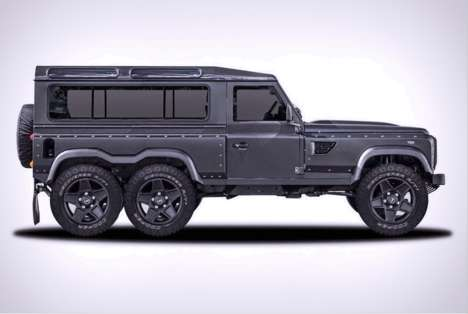 Elongated Jeep Concepts - The Kahn Design Land Rover Defender Flying Huntsman is as Long as Its Name