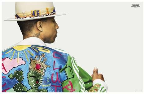 Vibrant Musician Editorials - This Pharrell Fashion Story is Captured for GQ Style Germany