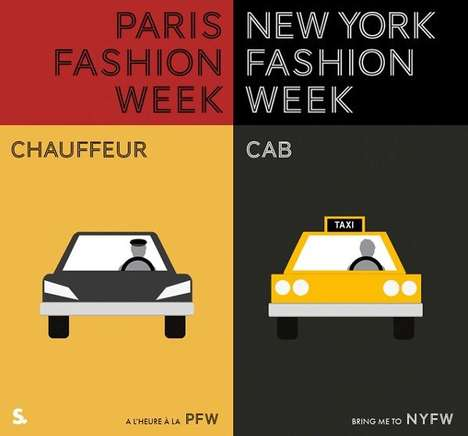 Fashionable City Infographics - This Graph is Reminiscent of Minimalist Fashion Week Posters