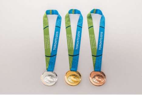 Braille Sports Medals - Toronto's Pan Am Sports Medals Include a Tactile Writing System