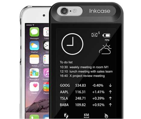 E-Ink Phone Cases - The inkCase Displays Notifications and Noteworthy Info On Your Mobile's Back