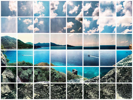 Fragmented Landscape Photography - Victor Tretiak's Gridded Photo Series Captures Serene Scenery