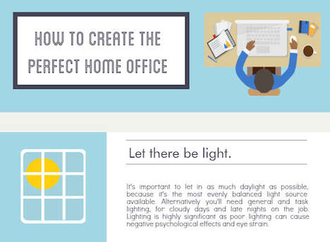 Office-Creating Tips - ePrint Digital's Infographic Explains How to Go About Creating a Home Office