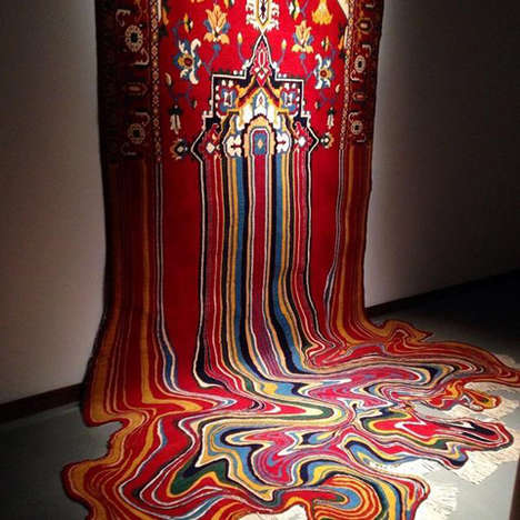 Melting Rug Sculptures - Faig Ahmed Remixes Tradition With his Contemporary Carpet Art