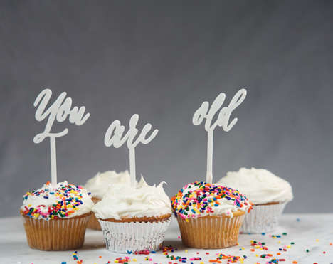 Blunt Cake Toppers - CollectedEdition's Cupcake Toppers Don't Sugarcoat Their Message
