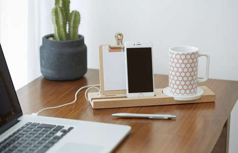 Teatime Phone Docks - This Office Desk Organizer Holds Papers, a Phone and a Mug