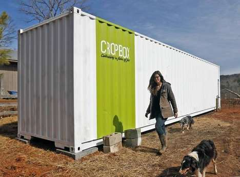 Shipping Container Gardens - Cropbox Blends Greenhouses and Hydroponics for Mobile Farming