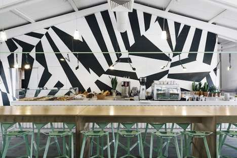 Abstract Graffiti Interiors - Bulka Cafe and Bakery Boasts a Vibrant Wall Mural