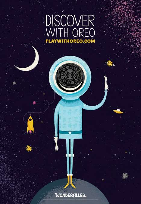 Groovy Cookie Ads - The Play with Oreo Campaign Invites Artists to Creatively Interpret Play
