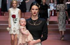 Opulent Maternal Fashion - The Latest Dolce and Gabbana Fashion Pays Tribute to Motherhood
