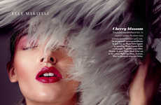 Fur-Clad Beauty Editorials - The Elle Greece Fur…Y Tale Story Features Bold Winter Makeup
