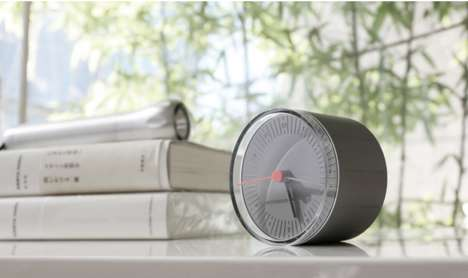 Rolling World Clocks - This World Clock Can Be Nudged To Display Different Time Zones